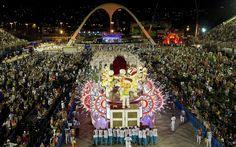 Salgueiro foi a segunda escola a desfilar pelo Grupo Especial do carnaval do Rio