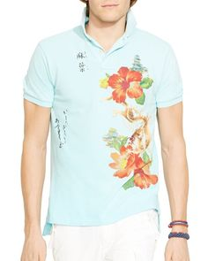 Ralph Lauren Custom-Fit Floral Mesh Polo Shirt - Slim Fit