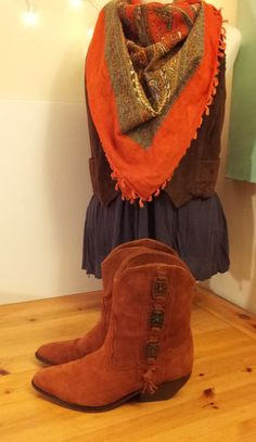 Zodiac Suede Cowboy Boots Womens Size 8 1/2 by toliveforlove, $47.00