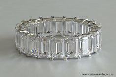 Emerald Cut Diamond Wedding Band - Eternity Ring New Zealand