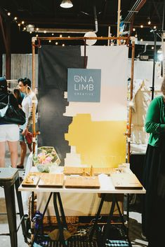 Vertical Half Booth (4'x8') at the Austin Spring Market. #RenegadeAustin #RenegadeCraftFair