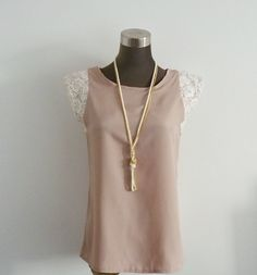 Love this natural casual simple pretty top