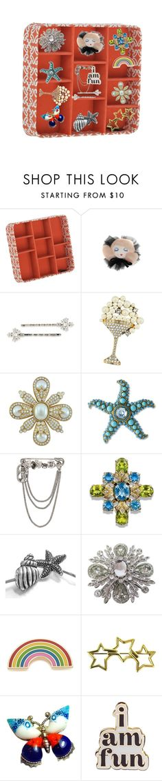 """""""pins for all occasions"""" by rpsounos ❤ liked on Polyvore featuring Morgan Lane, Carolee, Marc Jacobs, Ciner, Kenneth Jay Lane, St. John, Georgia Perry, Tiffany & Co., Millefiori and ban.do"""