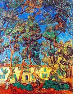 Trees in the Garden of Saint-Paul Hospital. Impressionism by Vincent Van Gogh. Van Gogh paintings are studies in color. My favorite painting. Vincent Van Gogh, Paul Vincent, Saint Vincent, Art Van, Desenhos Van Gogh, Van Gogh Arte, Van Gogh Pinturas, Van Gogh Paintings, Dutch Painters