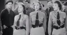 """The Andrews Sisters Perform """"Boogie Woogie Bugle Boy"""" via LittleThings.com  Claire's inspiration"""
