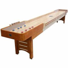 Playcraft Coventry Honey 12' Shuffleboard Table, Beige