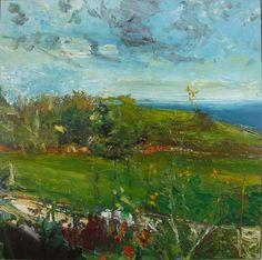 CCAF14 Exhibitor- Lynne Strover Gallery Chris Thomas, Landscape, at Trevalga