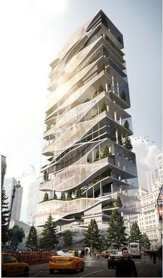 skyscraper reclaims, renews, re-uses snow, rain, & grey-water collected in the i… - Best Hotels Design Flying Architecture, Hotel Design Architecture, Architecture Antique, Architecture Magazines, Green Architecture, Futuristic Architecture, Amazing Architecture, Contemporary Architecture, Building Architecture