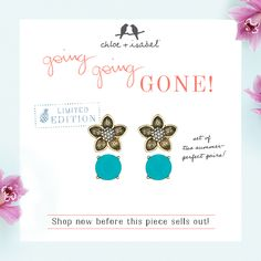 Going...going...gone Shop my boutique before it's too late! http://www.chloeandisabel.com/boutique/michelleweaver