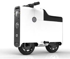 Get around the office in style! This briefcase shaped scooter can hit up to 35 mph and will last 40 miles on just a single charge.
