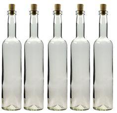 6 leere glasflaschen kegel quadra 200 ml incl korken zum selbst abf llen lik rflasche. Black Bedroom Furniture Sets. Home Design Ideas