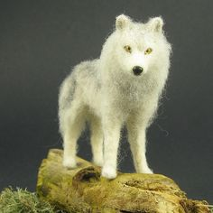 Needle felted wolf- Has text on how to make your own... :)