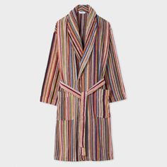 Men s Signature Striped Towelling Dressing Gown Paul Smith 07d750a4a5a