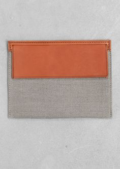 Isabelle Bois leather and fabric pouch | Isabelle Bois leather and fabric pouch | & Other Stories