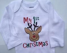 My 1st Christmas Baby boy Toddler Boy Christmas outft -  baby boy christmas outfit - holiday outfit