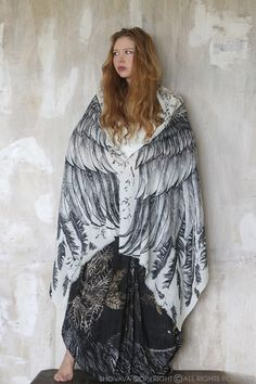 If you were Galadriel or Arwen, wouldn't one of these incredible Shovava scarves with wings be part of your wardrobe?