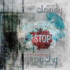 Another Cloudy Day. Created for today's art journal challenge on the Designer Digital blog. #designerdigitals #digital art journal page #digital scrapbook pagess