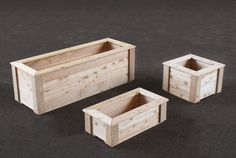 Rectangle planter boxes are ideal for container gardening in small urban spaces such as a deck or patio, balcony or rooftop.