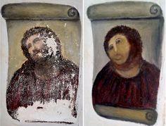 Holy fail! Cecilia Prize crowdsources botched Jesus fresco | Crave - CNET