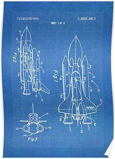 'NASA Space Shuttle Invention Patent Art, Blueprint' Art Print by Stephen Chambers / The Pop Art Factory Invention Patent, Wall Prints, Canvas Prints, Blueprint Art, Murphy Bed Plans, Buy Art Online, Space Shuttle, Art Auction, American Art