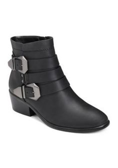 AEROSOLES Black Leather My Time Boot