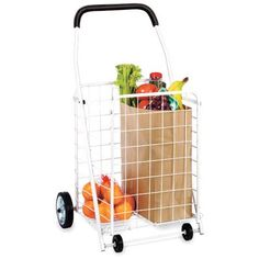 Whitmor Rolling Utility Cart, White