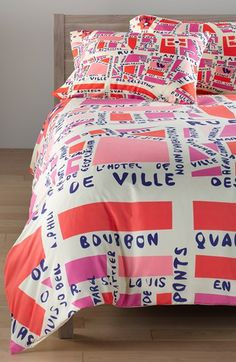 Free shipping and returns on DENY Designs 'Holli Zollinger - Paris' Duvet Cover Set at Nordstrom.com. Bring a little French flair to the bedroom with this modern-map duvet cover from designer Holli Zollinger. A pair of coordinating shams completes the set.