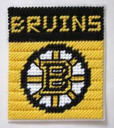 Boston Bruins tissue box cover in plastic canvas PATTERN ONLY by AuntCC for $2.50