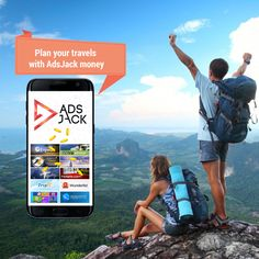 Plan your travels with the free money you earn on AdsJack.