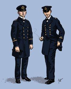 Een Duitse en een Oostenrijks-Hongaarse marineofficier uit de Eerste Wereldoorlog. Fictional Characters, Fantasy Characters