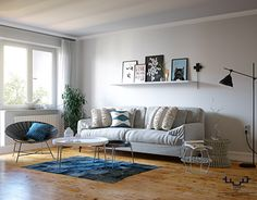 """Check out new work on my @Behance portfolio: """"Scandinavian Living Room in Winter"""" http://be.net/gallery/45833243/Scandinavian-Living-Room-in-Winter"""