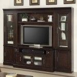Parker House - Stanford Library 4 Piece Space Saver Entertainment Wall Unit in Light Vintage Cherry - STA-405-412-425(2)-499