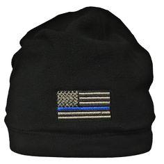 American Blue Line Flag Fleece Beanie