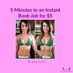 How to fake a boob job in 5 minutes! Perfect for a bikini or figure girl hitting the stage. Kara found this amazing tip from Stephanie Phillip's Youtube channel.          For more motivation, tips, recipes, workouts, and inspiration: http://www.facebook.com/KaraLeighNpcBikini https://instagram.com/karacoreyfitlife/ https://www.youtube.com/user/KaraLeigh83