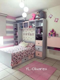 Cool gіrl bеdrооm dеѕіgnѕ 6 is part of Girl bedroom designs - Kids Bedroom Designs, Cute Bedroom Ideas, Cute Room Decor, Baby Room Design, Room Ideas Bedroom, Home Room Design, Baby Room Decor, Bedroom Decor, 6 Year Old Girl Bedroom