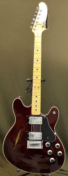 1977 Fender Starcaster Refin Wine