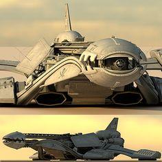 spaceship space 3d 3ds - Spaceship HD by Pekdemir
