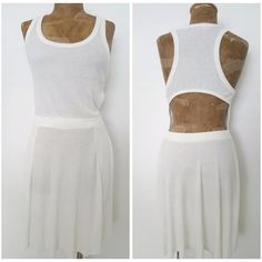 Free People Beach Dress Size Large White Open Back Mini USA Summer #FreePeopleBeach #BeachDress #Casual