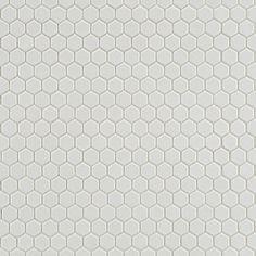 white ceramic 5/8 hex tile - for floor