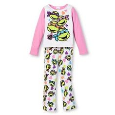 Girls' Teenage Mutant Ninja Turtles Pajama Set - Multicolored