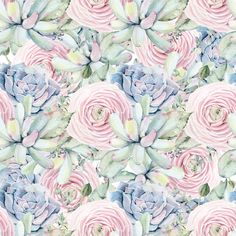 96f5ae55f82 *PRE-ORDER* Floral Succulents COTTON LYCRA jersey knit. Ruth Yoder · Fabric  · Navy Blue Striped ...