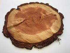 Large wood slice cake stand charger by thisfineday on Etsy