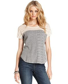 short-sleeve knit sweater -