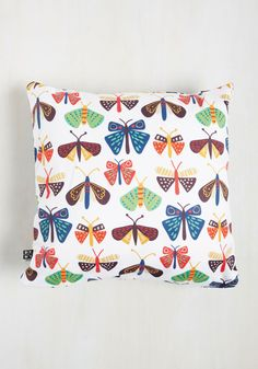 MothCloth Pillow. Yeah, you read that correctly - this white pillow by Zoe Wodarz for DENY inspired us so much, we just had to name it after our beloved institution! #white #modcloth