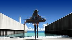 Anime picture  1920x1080 with   kantai collection  haruna battleship  error musume (kantai collection)  batsubyou  azusa yukimasa  long hair  tall image  blush  short hair  looking at viewer  highres  wide image  multiple girls  sitting  sky  cloud (clouds)  japanese clothes  traditional clothes  grey hair  wallpaper