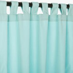 """Canvas Glacier Tab Top Sunbrella Curtain Panel Sold by the Panel Free Shipping Available in 84"""", 96"""", 108"""" and 120"""" Long"""