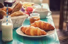 Traditional Continental Breakfast by Continental Breakfast, Croissants, Coffee Time, Bread, Cheese, Traditional, Make It Yourself, Fat Burning, Foods