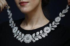ColarCartier em diamantes e esmeraldas, 1906