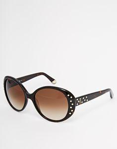 Sonnenbrille von Juicy Couture verziertes Schildpatt-Gestell geformte Nasenpolster für zusätzlichen Komfort abgestuft getönte Gläser logoverzierte Bügel mit abgerundeten Enden für sicheren Halt voller UV-Schutz