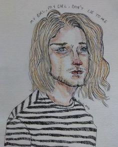 Kurt Cobain #nirvana#kurtcobain#wheredidyousleepatnight
